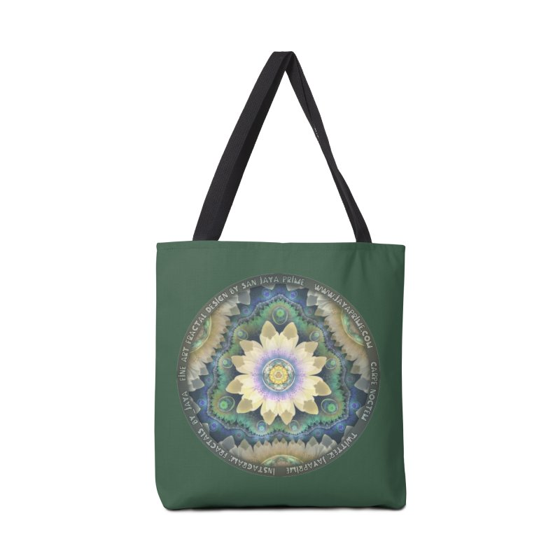 The Pastel Petals of Spring's First Lotus Blossom Accessories Tote Bag Bag by The Fractal Art of San Jaya Prime