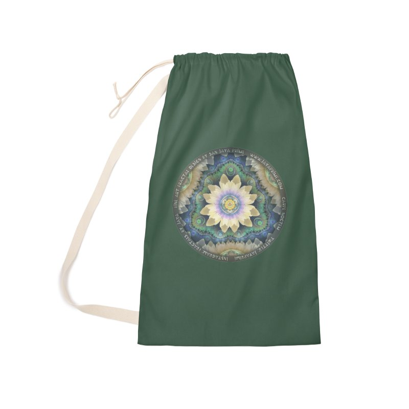 The Pastel Petals of Spring's First Lotus Blossom Accessories Laundry Bag Bag by The Fractal Art of San Jaya Prime