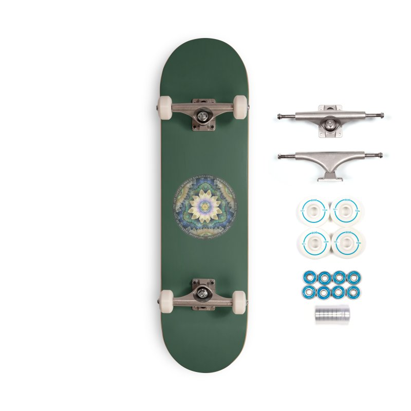 The Pastel Petals of Spring's First Lotus Blossom Accessories Skateboard by The Fractal Art of San Jaya Prime