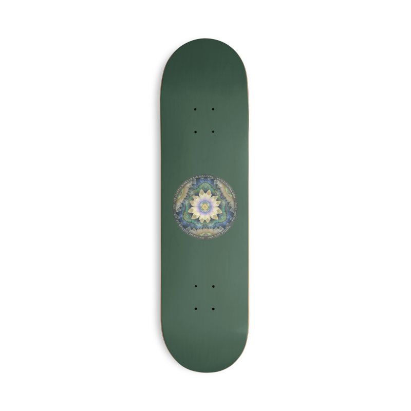 The Pastel Petals of Spring's First Lotus Blossom Accessories Deck Only Skateboard by The Fractal Art of San Jaya Prime