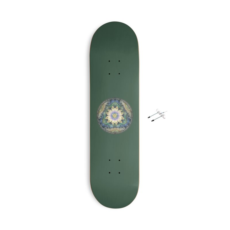 The Pastel Petals of Spring's First Lotus Blossom Accessories With Hanging Hardware Skateboard by The Fractal Art of San Jaya Prime