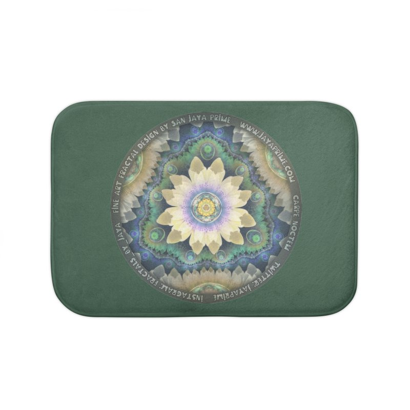 The Pastel Petals of Spring's First Lotus Blossom Home Bath Mat by The Fractal Art of San Jaya Prime