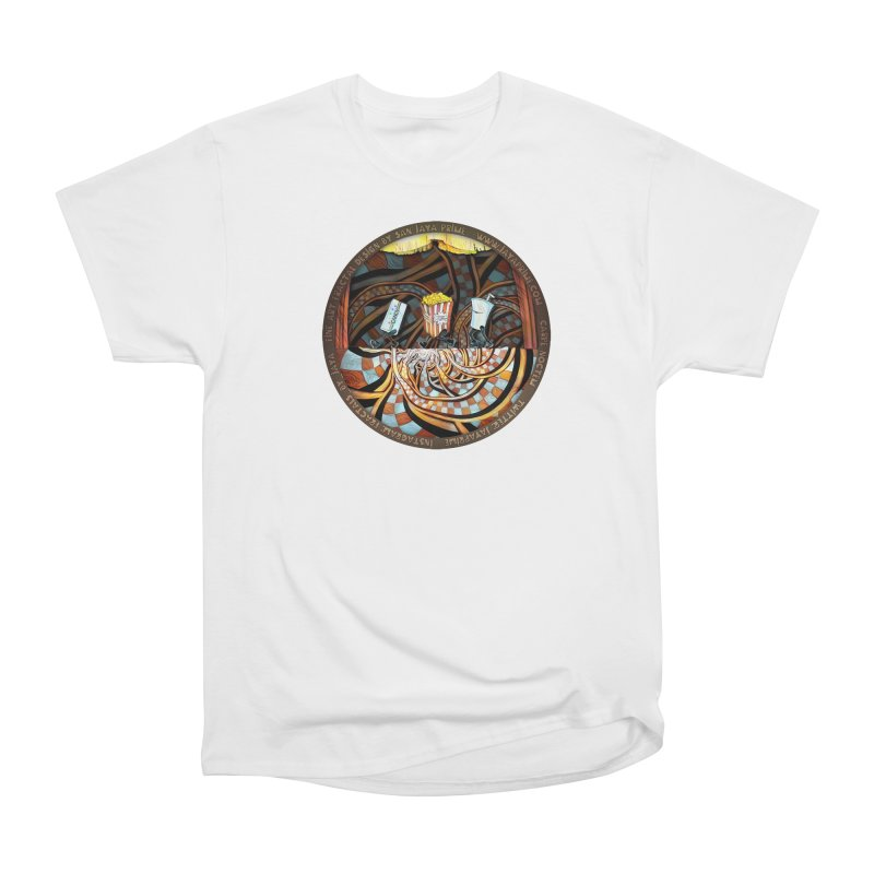 Night at the Route 66 Drive-In Movie Theater Women's T-Shirt by The Fractal Art of San Jaya Prime