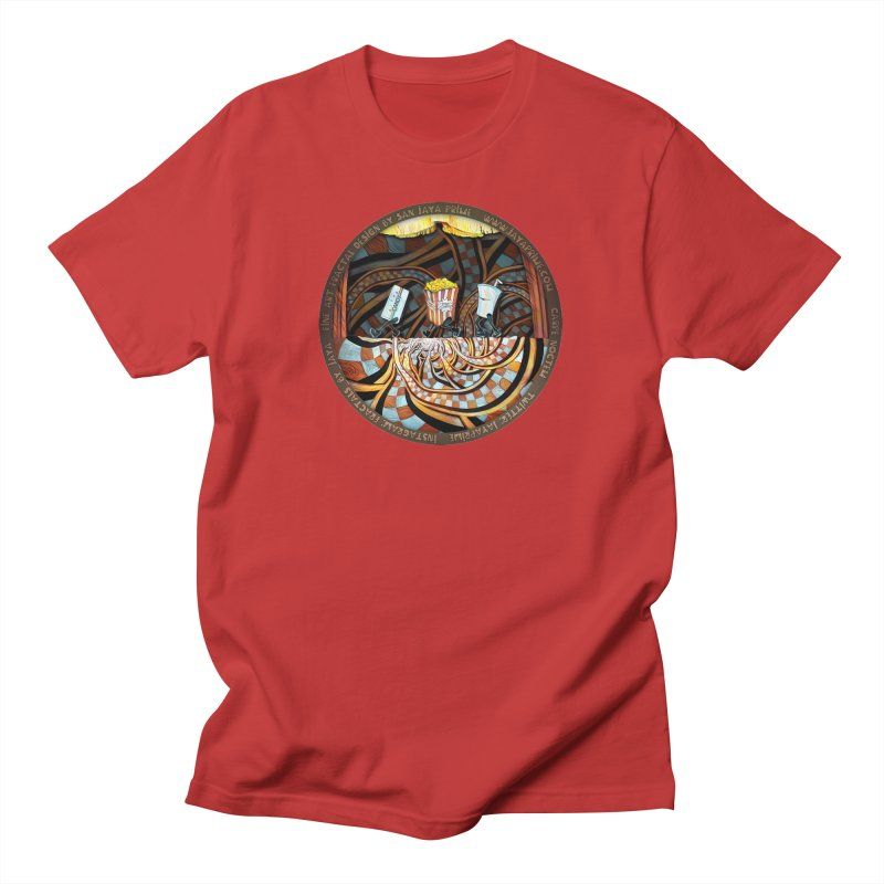 Night at the Route 66 Drive-In Movie Theater Men's T-Shirt by The Fractal Art of San Jaya Prime