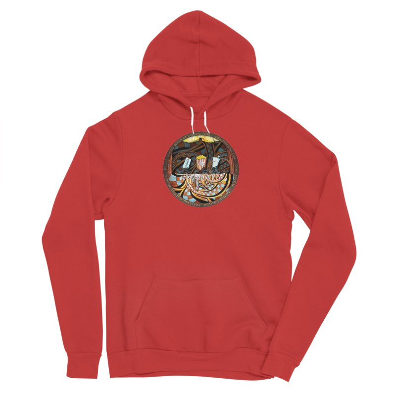 Night at the Route 66 Drive-In Movie Theater Women's Pullover Hoody by The Fractal Art of San Jaya Prime