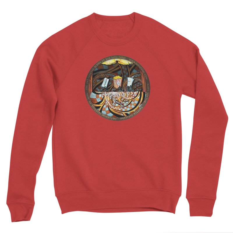 Night at the Route 66 Drive-In Movie Theater Women's Sweatshirt by The Fractal Art of San Jaya Prime
