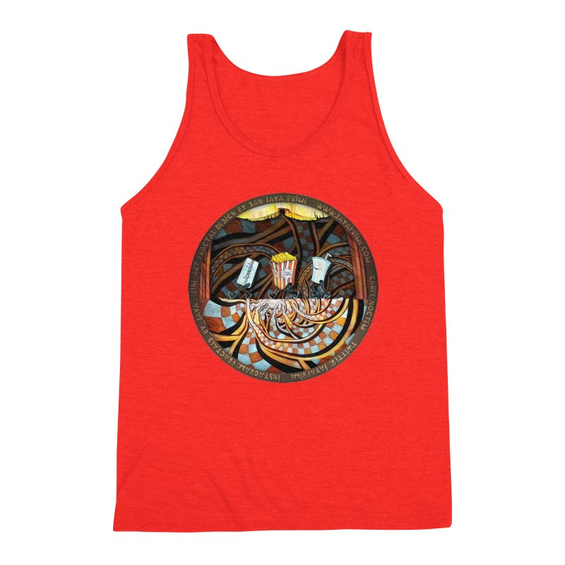 Night at the Route 66 Drive-In Movie Theater Men's Tank by The Fractal Art of San Jaya Prime