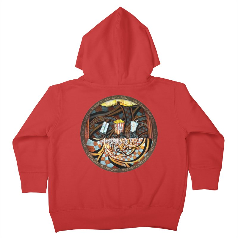 Night at the Route 66 Drive-In Movie Theater Kids Toddler Zip-Up Hoody by The Fractal Art of San Jaya Prime