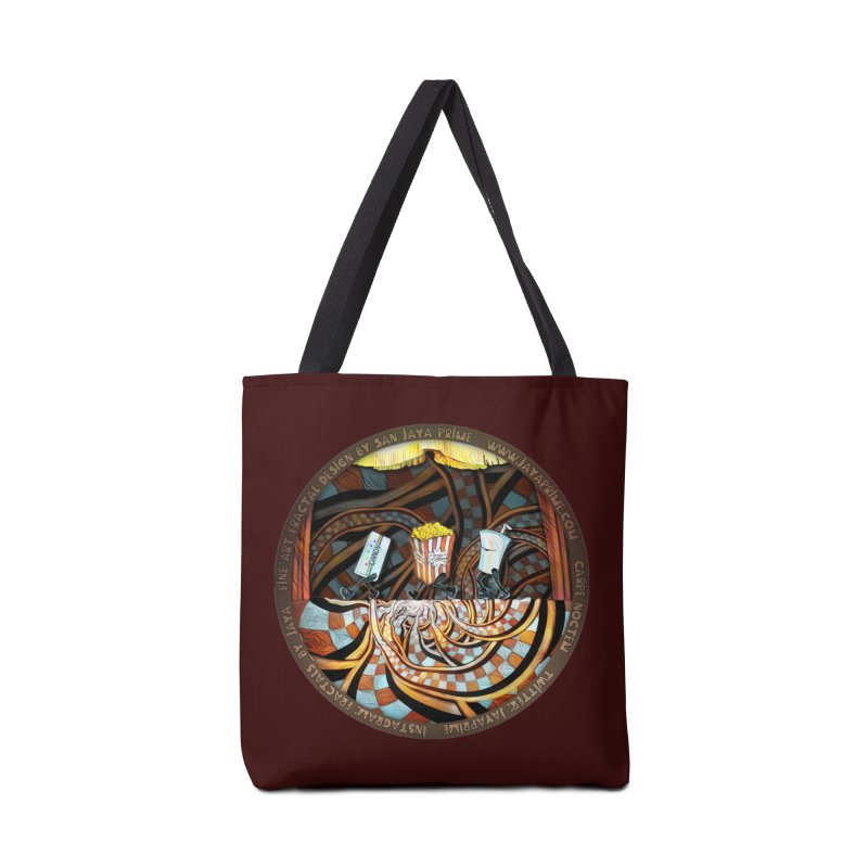 Night at the Route 66 Drive-In Movie Theater Accessories Bag by The Fractal Art of San Jaya Prime
