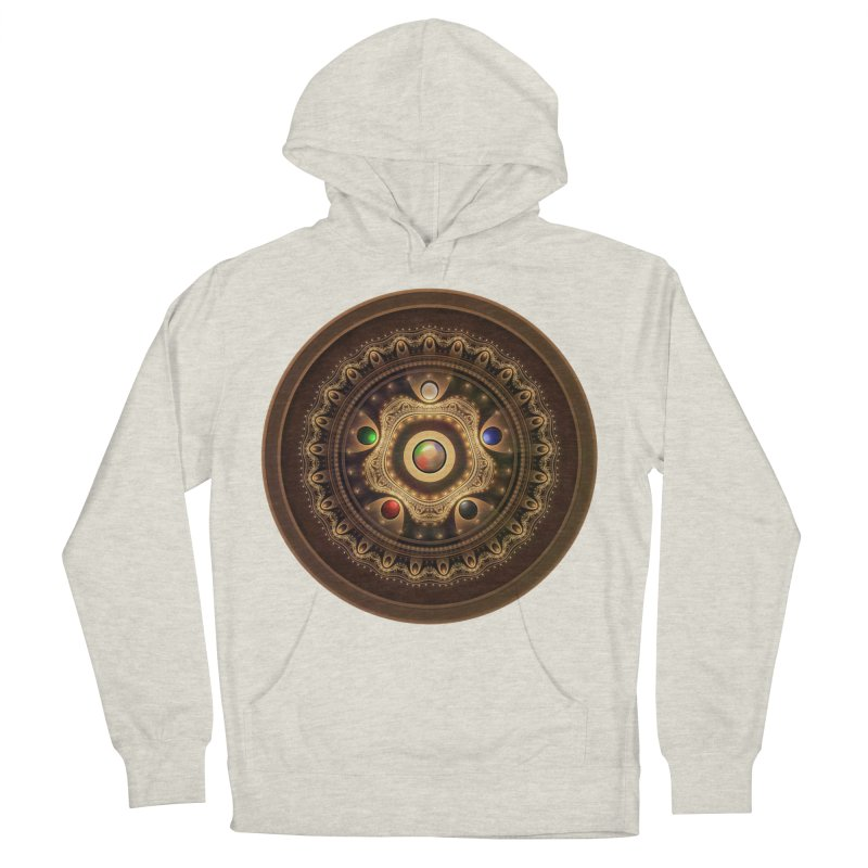 Gathering the Five Fractal Colors of Magic Men's Pullover Hoody by The Fractal Art of San Jaya Prime
