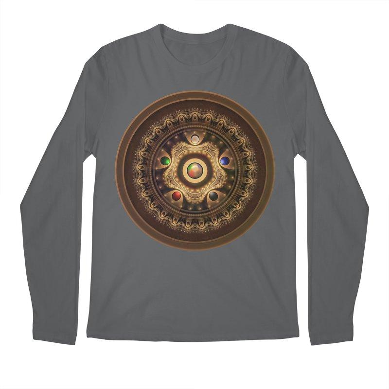 Gathering the Five Fractal Colors of Magic Men's Longsleeve T-Shirt by The Fractal Art of San Jaya Prime