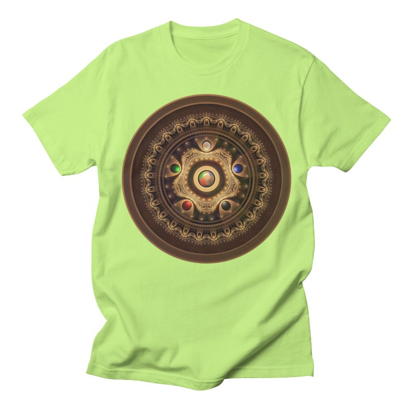 Gathering the Five Fractal Colors of Magic Men's T-Shirt by The Fractal Art of San Jaya Prime