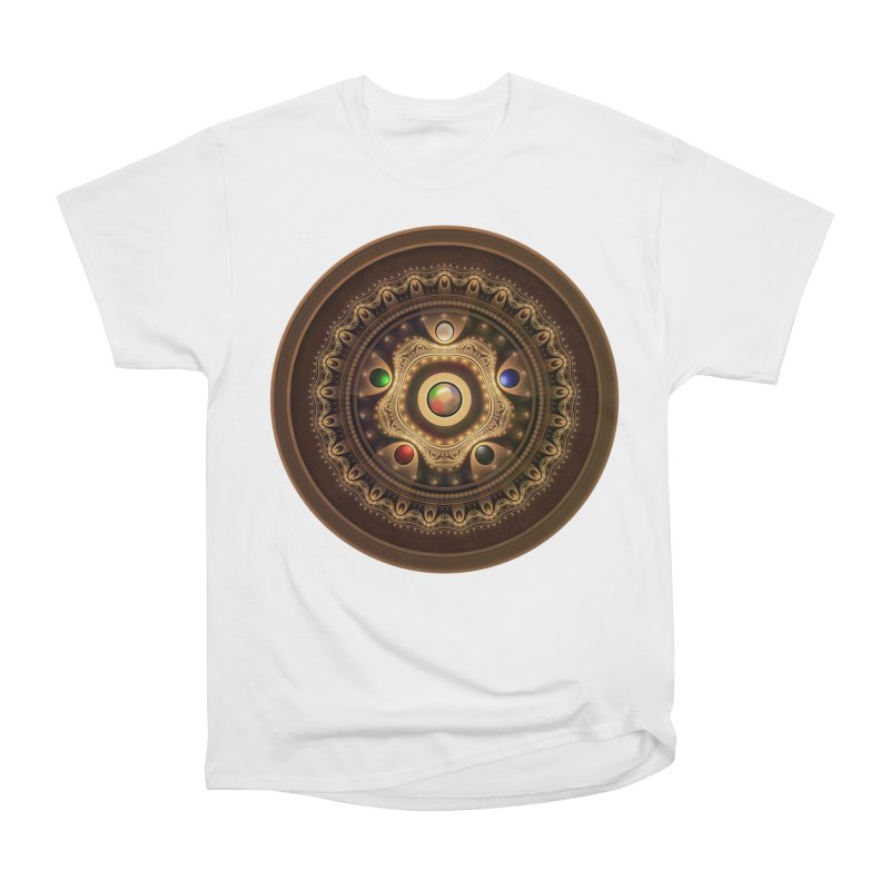 Gathering the Five Fractal Colors of Magic Men's T-Shirt by The Fractal Art of San Jaya Prime