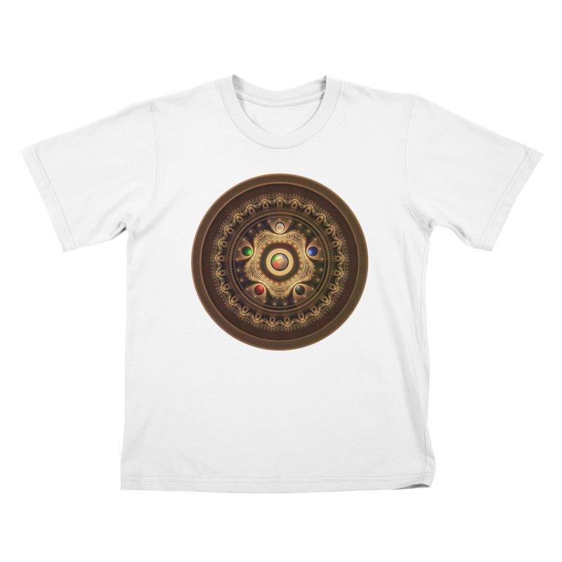 Gathering the Five Fractal Colors of Magic Kids T-Shirt by The Fractal Art of San Jaya Prime