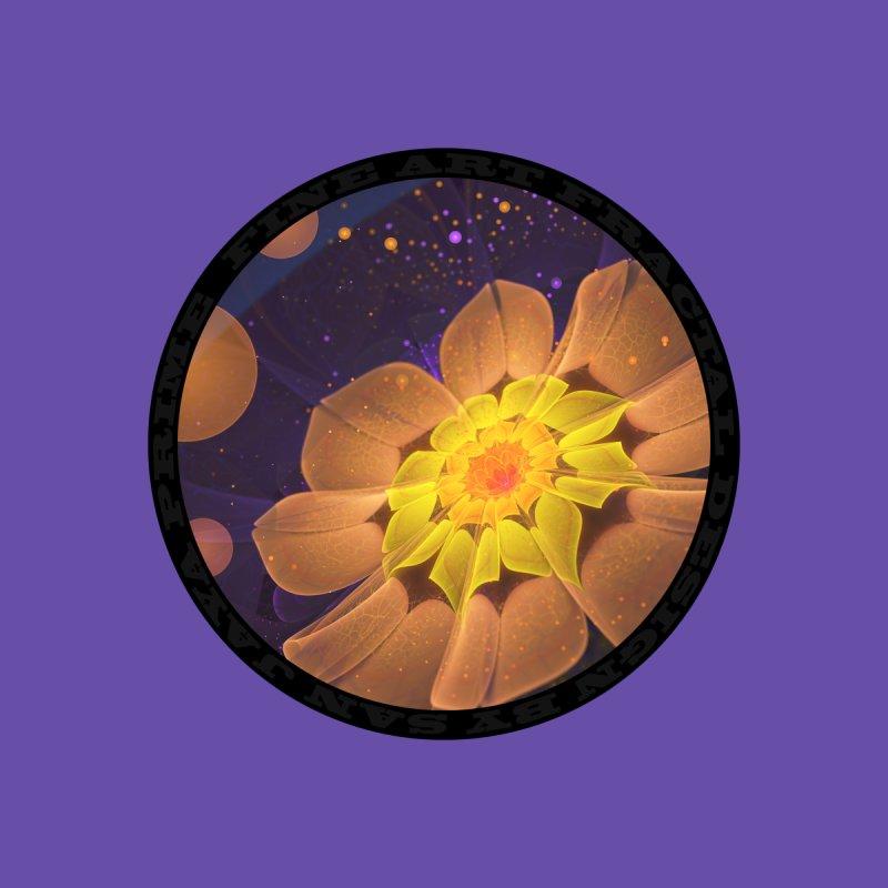 Beautiful Violet & Peach Primrose Fractal Flowers Accessories Notebook by The Fractal Art of San Jaya Prime