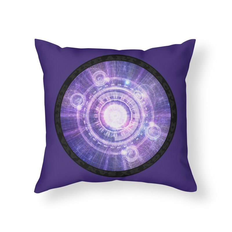 Blue Fractal Alchemy HUD for Bending Hyperspace in Throw Pillow by The Fractal Art of San Jaya Prime