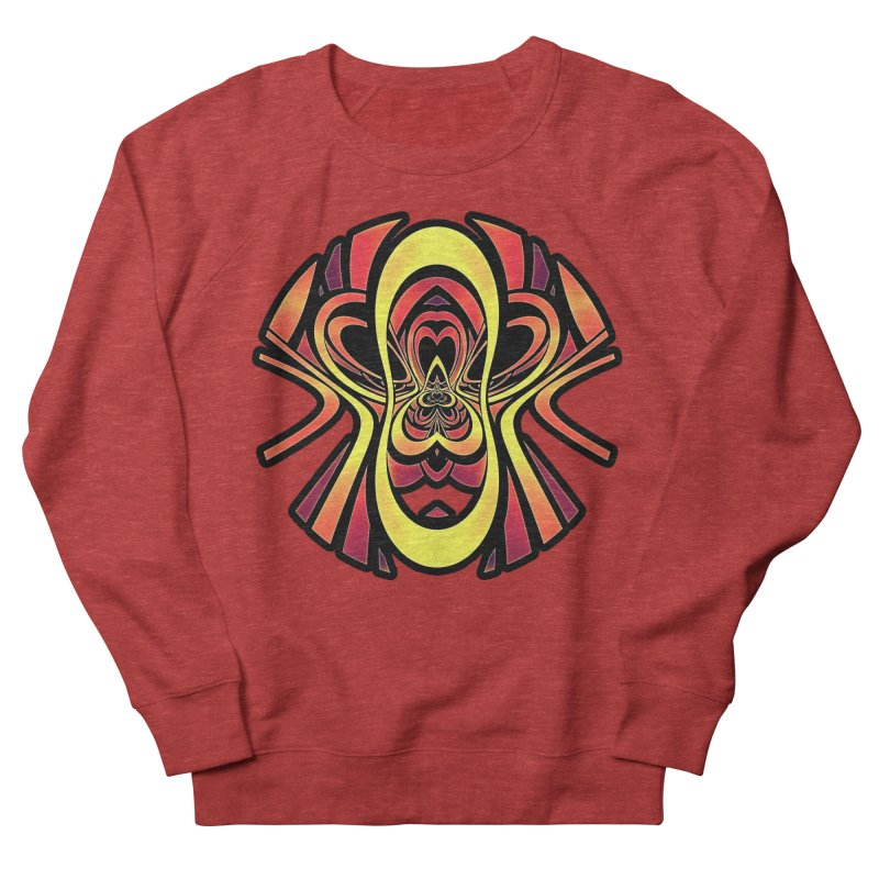 Golden Tribal Logo for a Space Monkey Named Winston Men's French Terry Sweatshirt by The Fractal Art of San Jaya Prime