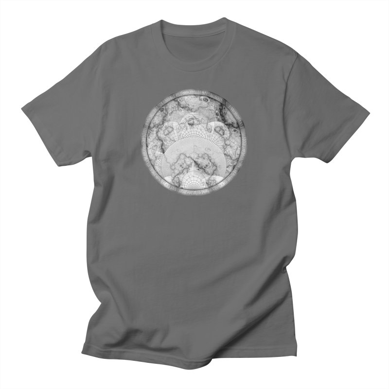 Foliated Marble as a Geometric Map of the Universe Men's T-Shirt by The Fractal Art of San Jaya Prime