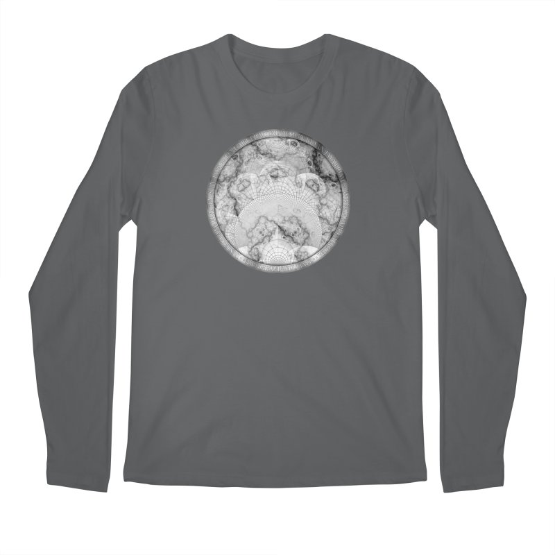 Foliated Marble as a Geometric Map of the Universe Men's Longsleeve T-Shirt by The Fractal Art of San Jaya Prime