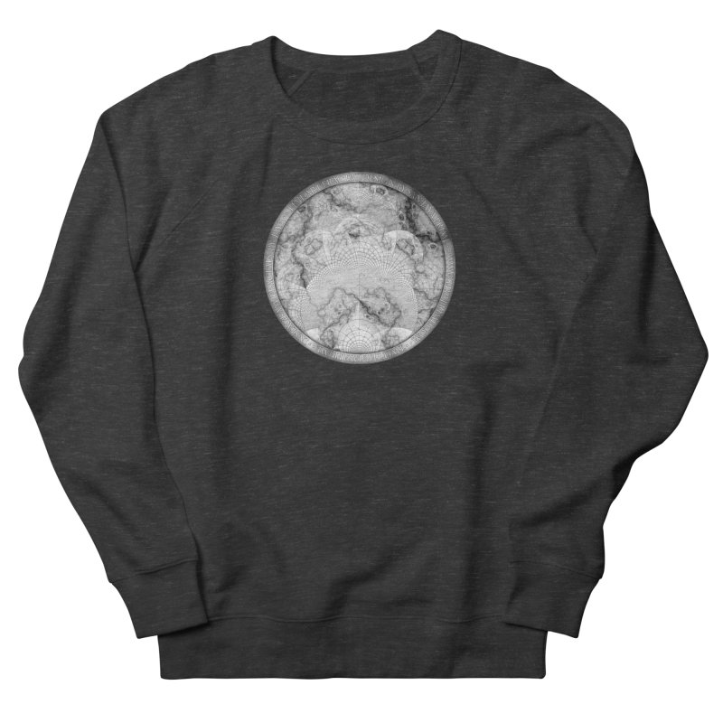 Foliated Marble as a Geometric Map of the Universe Women's Sweatshirt by The Fractal Art of San Jaya Prime