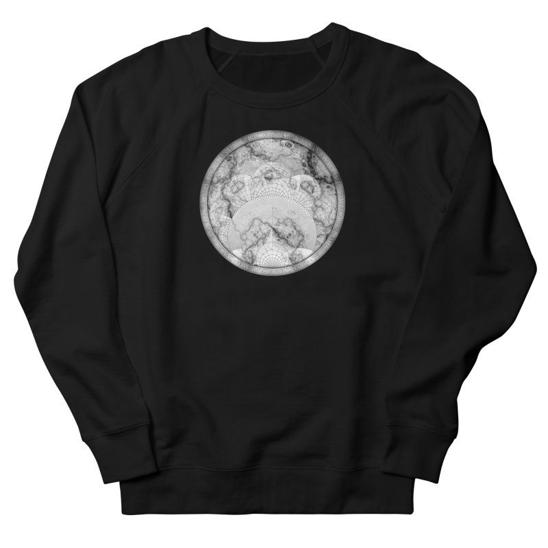 Foliated Marble as a Geometric Map of the Universe Men's French Terry Sweatshirt by The Fractal Art of San Jaya Prime