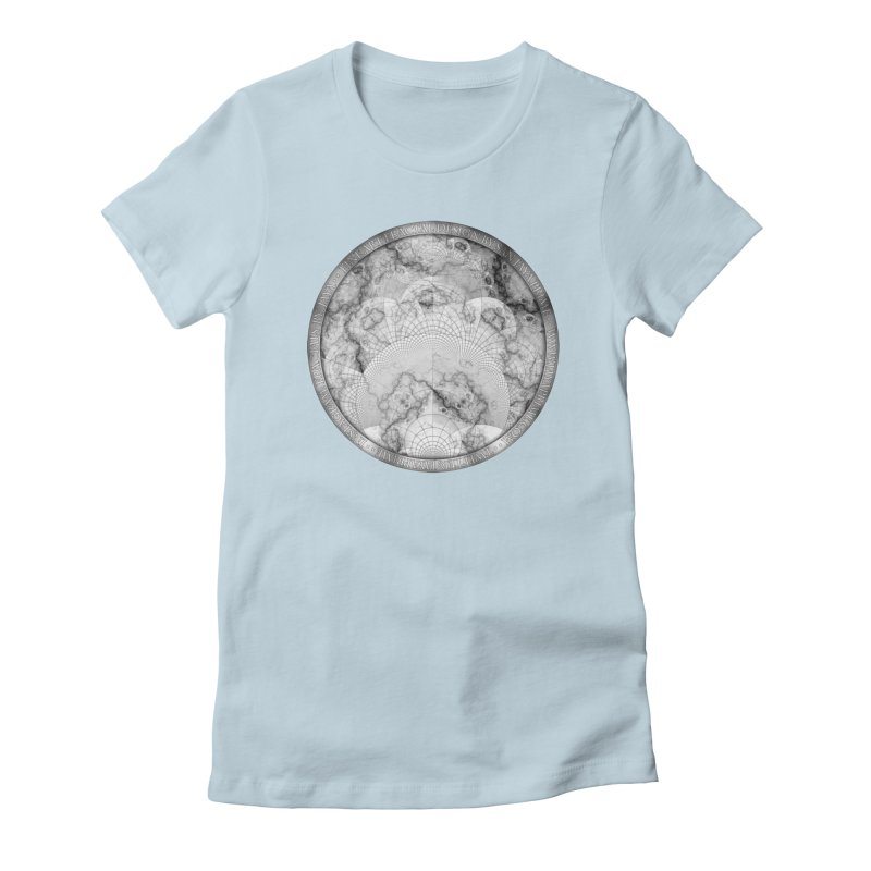 Foliated Marble as a Geometric Map of the Universe Women's T-Shirt by The Fractal Art of San Jaya Prime