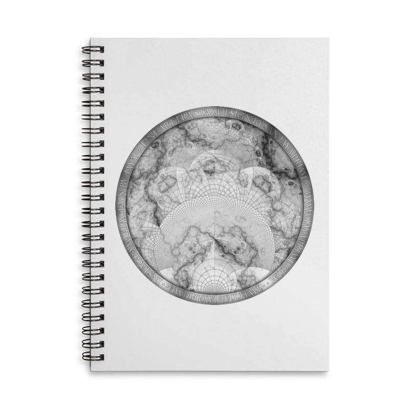 Foliated Marble as a Geometric Map of the Universe Accessories Notebook by The Fractal Art of San Jaya Prime