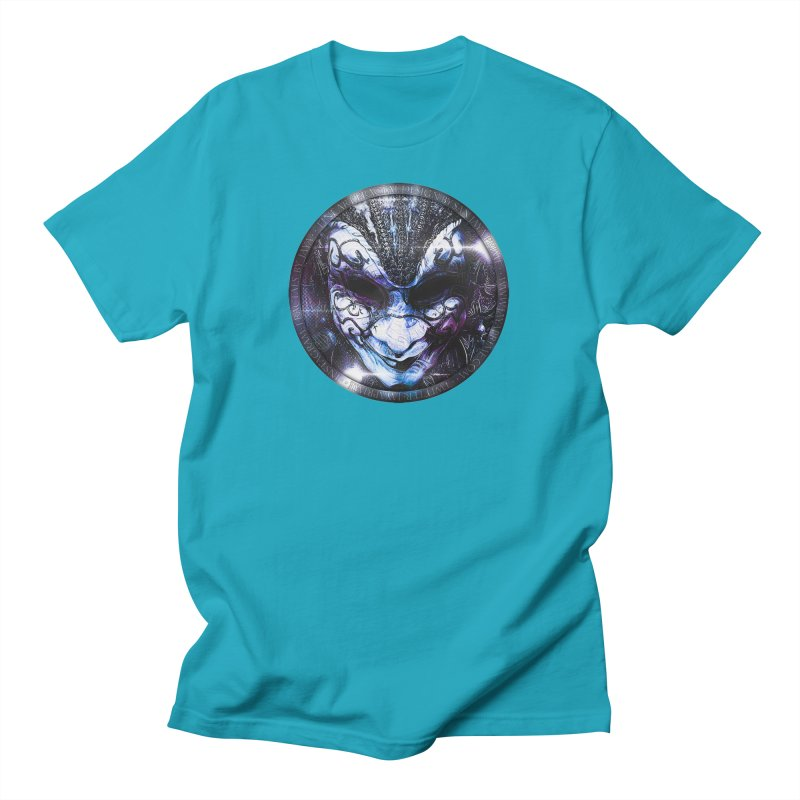 Blue Venetian Mask Worn by the Gypsy of the Moon Men's T-Shirt by The Fractal Art of San Jaya Prime