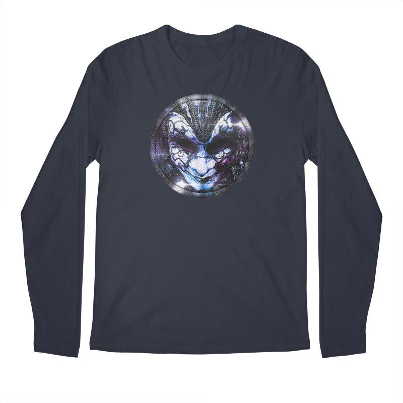Blue Venetian Mask Worn by the Gypsy of the Moon Men's Longsleeve T-Shirt by The Fractal Art of San Jaya Prime