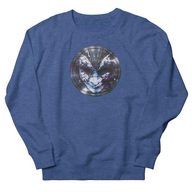 Blue Venetian Mask Worn by the Gypsy of the Moon Women's Sweatshirt by The Fractal Art of San Jaya Prime