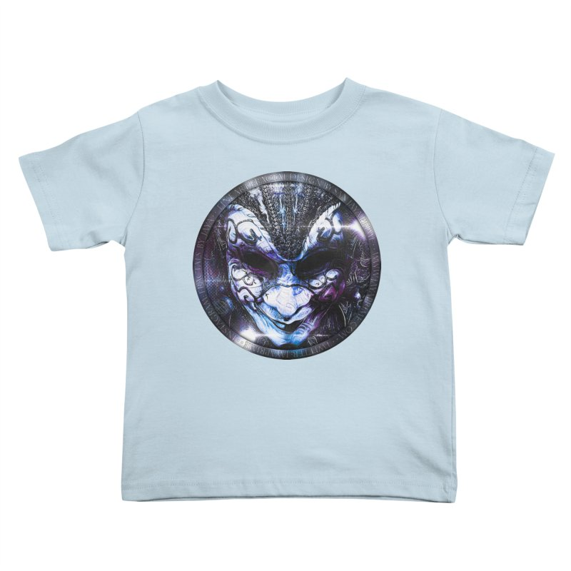 Blue Venetian Mask Worn by the Gypsy of the Moon Kids Toddler T-Shirt by The Fractal Art of San Jaya Prime