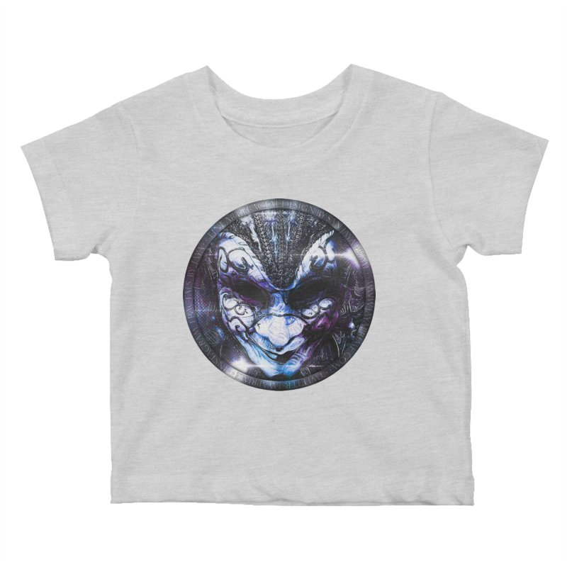 Blue Venetian Mask Worn by the Gypsy of the Moon Kids Baby T-Shirt by The Fractal Art of San Jaya Prime