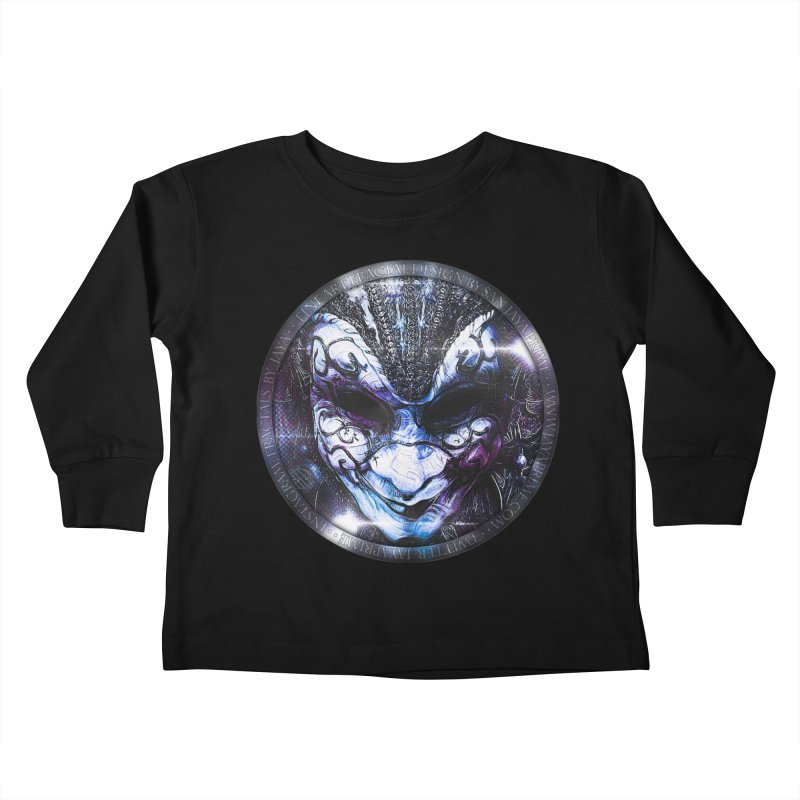 Blue Venetian Mask Worn by the Gypsy of the Moon Kids Toddler Longsleeve T-Shirt by The Fractal Art of San Jaya Prime