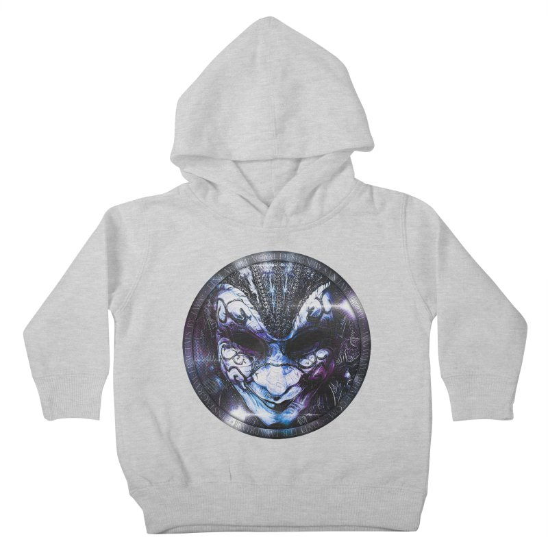 Blue Venetian Mask Worn by the Gypsy of the Moon Kids Toddler Pullover Hoody by The Fractal Art of San Jaya Prime