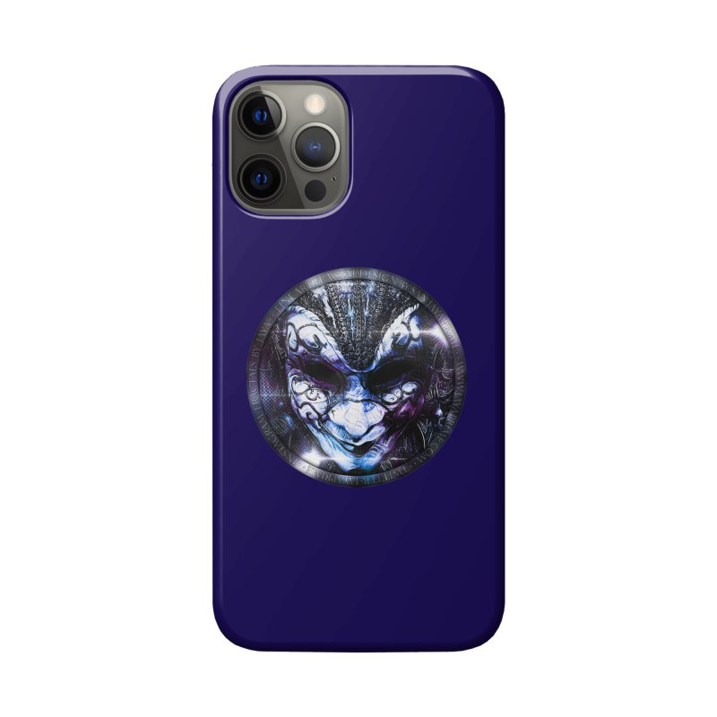 Blue Venetian Mask Worn by the Gypsy of the Moon Accessories Phone Case by The Fractal Art of San Jaya Prime