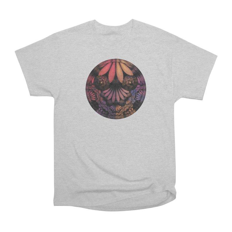 Pastel & Paisley Plume of Rainbow Fractal Feathers Men's T-Shirt by The Fractal Art of San Jaya Prime