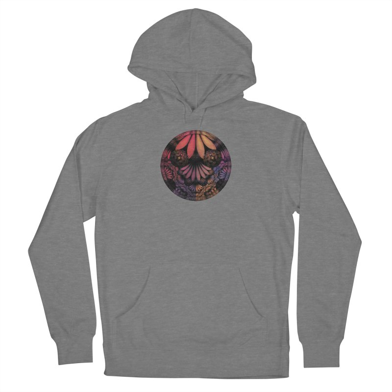 Pastel & Paisley Plume of Rainbow Fractal Feathers Women's Pullover Hoody by The Fractal Art of San Jaya Prime