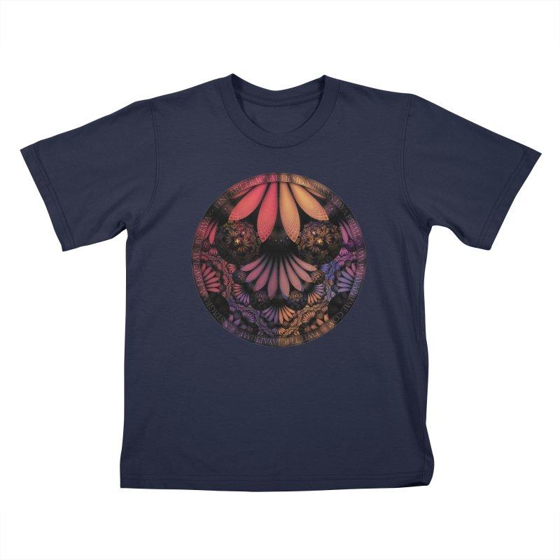 Pastel & Paisley Plume of Rainbow Fractal Feathers Kids T-Shirt by The Fractal Art of San Jaya Prime