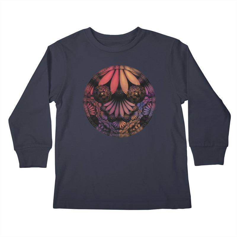 Pastel & Paisley Plume of Rainbow Fractal Feathers Kids Longsleeve T-Shirt by The Fractal Art of San Jaya Prime