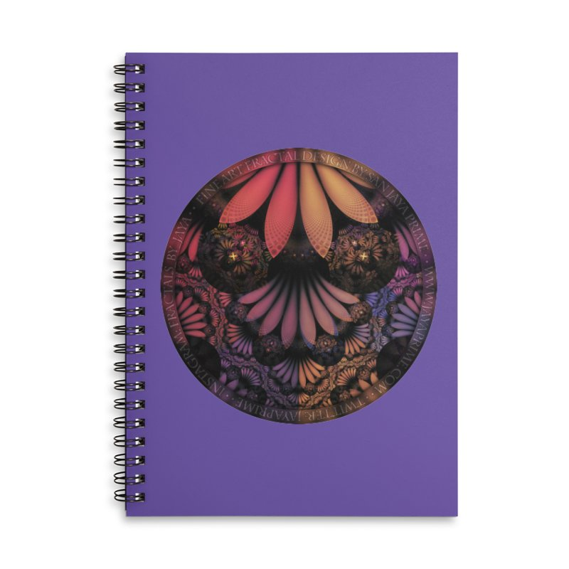 Pastel & Paisley Plume of Rainbow Fractal Feathers Accessories Notebook by The Fractal Art of San Jaya Prime