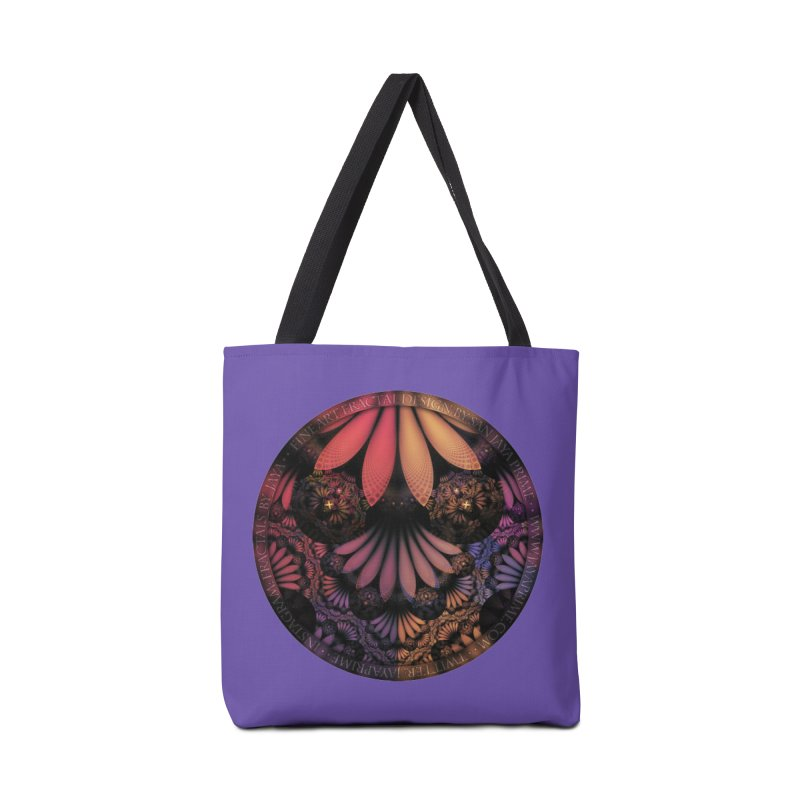 Pastel & Paisley Plume of Rainbow Fractal Feathers Accessories Bag by The Fractal Art of San Jaya Prime