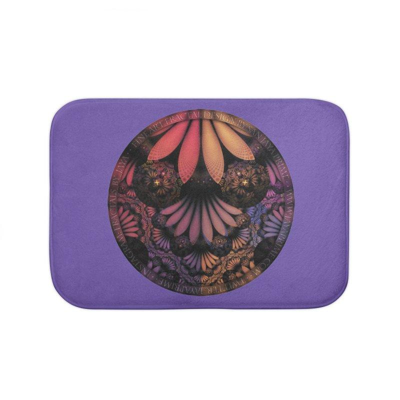 Pastel & Paisley Plume of Rainbow Fractal Feathers Home Bath Mat by The Fractal Art of San Jaya Prime