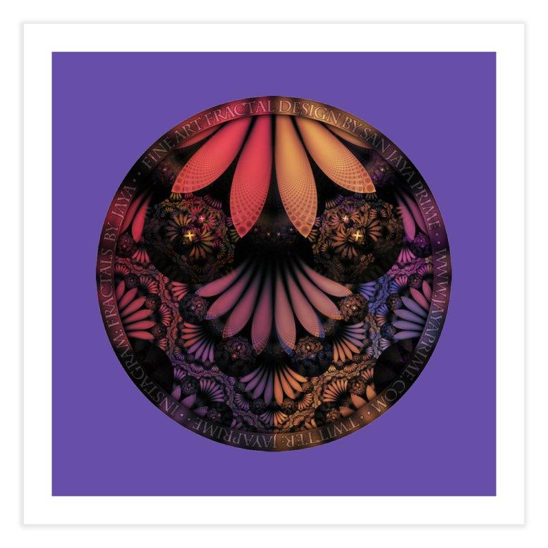 Pastel & Paisley Plume of Rainbow Fractal Feathers Home Fine Art Print by The Fractal Art of San Jaya Prime
