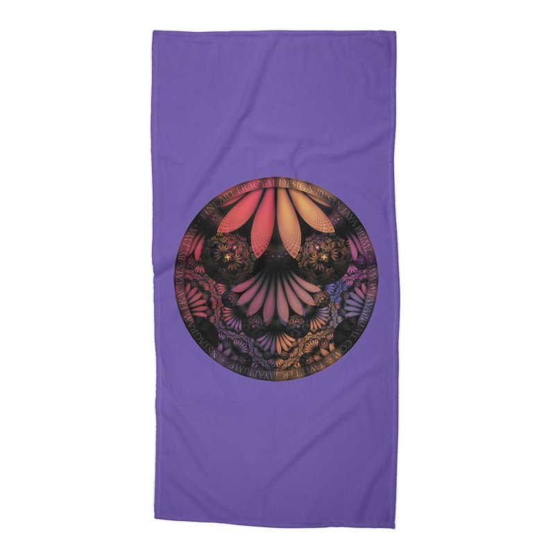 Pastel & Paisley Plume of Rainbow Fractal Feathers Accessories Beach Towel by The Fractal Art of San Jaya Prime