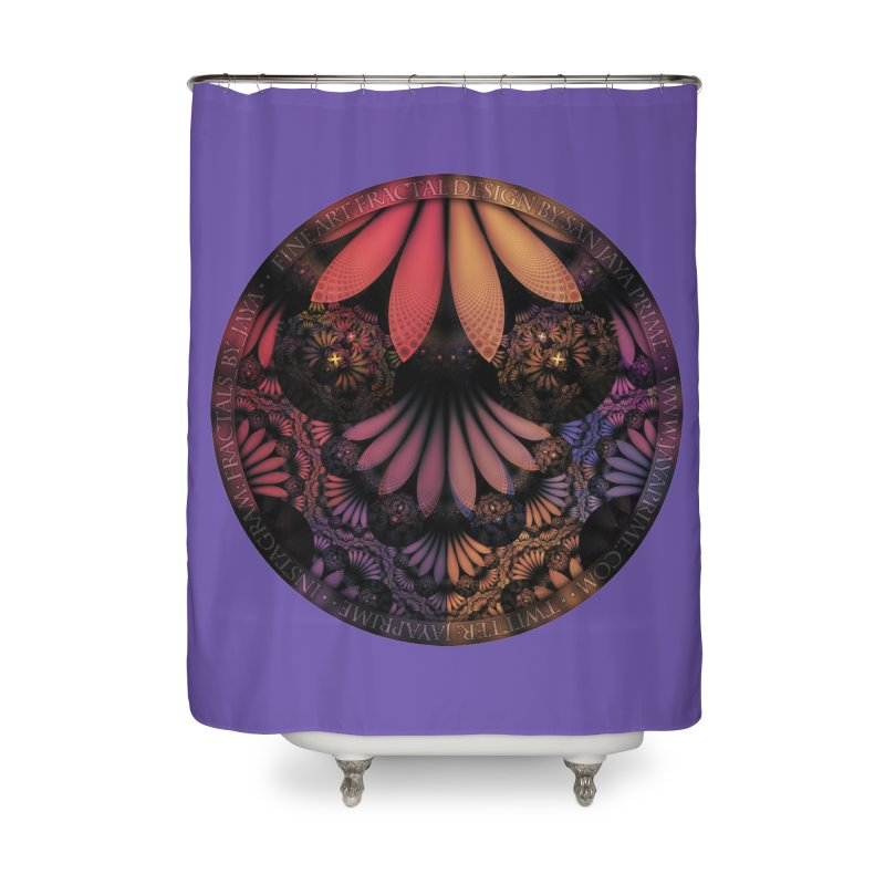 Pastel & Paisley Plume of Rainbow Fractal Feathers Home Shower Curtain by The Fractal Art of San Jaya Prime
