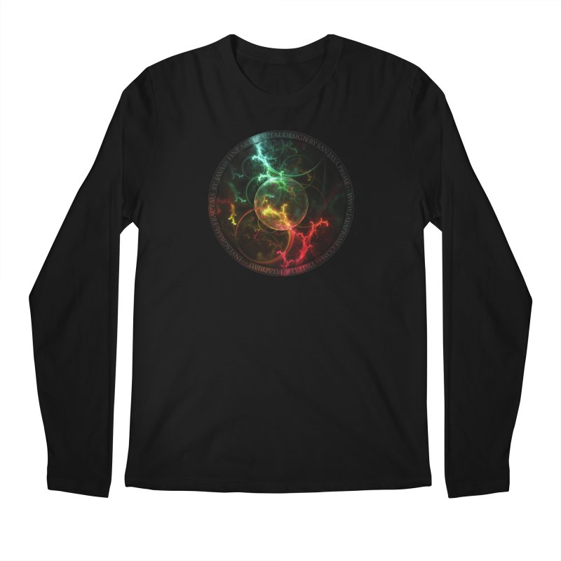Carnivorous Cape Sundew Tentacles in an Ecosphere Men's Regular Longsleeve T-Shirt by The Fractal Art of San Jaya Prime