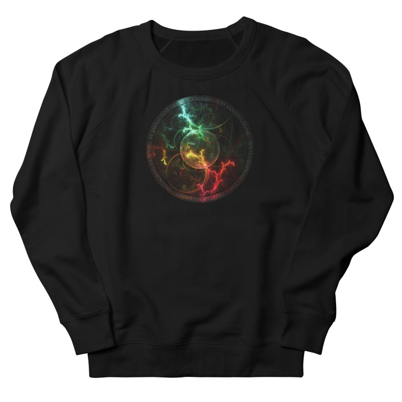 Carnivorous Cape Sundew Tentacles in an Ecosphere Men's French Terry Sweatshirt by The Fractal Art of San Jaya Prime