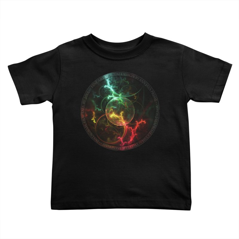 Carnivorous Cape Sundew Tentacles in an Ecosphere Kids Toddler T-Shirt by The Fractal Art of San Jaya Prime