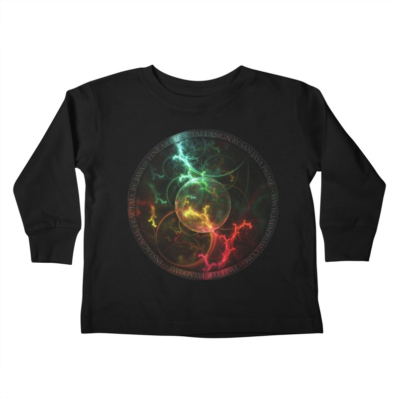 Carnivorous Cape Sundew Tentacles in an Ecosphere Kids Toddler Longsleeve T-Shirt by The Fractal Art of San Jaya Prime