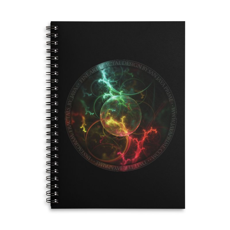 Carnivorous Cape Sundew Tentacles in an Ecosphere Accessories Notebook by The Fractal Art of San Jaya Prime